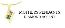 Mothers Pendants - Diamond Accent
